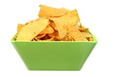 Corn Chips in Bowl Stock Image