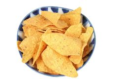 Corn Chips in Bowl Royalty Free Stock Images
