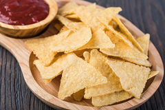 Corn chips nachos stock photo