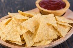 Corn chips nachos stock photography