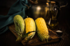 Corn on the cob. Autumn healthy snack Stock Photo
