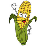 Corn On The Cob Character. An image of a ear of corn cartoon character Royalty Free Stock Image