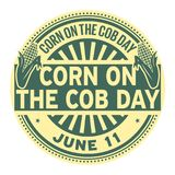 Corn on the Cob Day stamp. Corn on the Cob Day, June 11, rubber stamp, vector Illustration Royalty Free Stock Photography