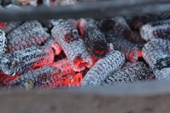 Corn cob embers royalty free stock images
