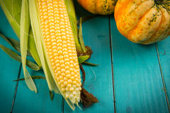 Corn on cob Stock Image