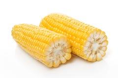 Corn Cob in half Stock Photo