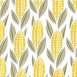 Corn cob maize seamless pattern stock illustration