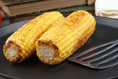 corn on the cob in a pan Royalty Free Stock Photos