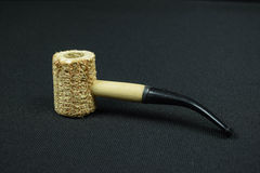 Corn cob pipe. Taken at 125th at f9 with a black back ground Royalty Free Stock Photography