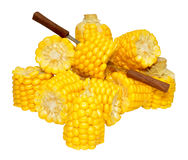 Corn On The Cob Portions Royalty Free Stock Images