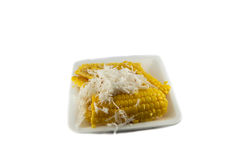 Corn and Coconut Stock Photography