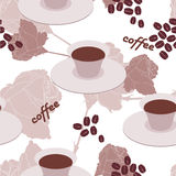 Corn coffee. Cup of coffee and coffee-beans Royalty Free Stock Image