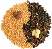 Corn, coffee and string bean Stock Photos