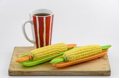Corn and Coffee 01 Royalty Free Stock Photography