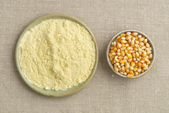 Corn and cornmeal Royalty Free Stock Images