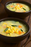 Corn and Courgette Chowder Royalty Free Stock Photo