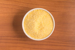 Corn Couscous into a bowl. Cuscus Royalty Free Stock Image