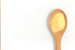 Corn Couscous into a spoon. Cuscus Stock Photos