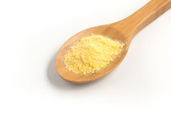 Corn Couscous into a spoon. Cuscus Stock Images