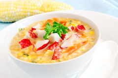 Corn and crab soup Royalty Free Stock Photo