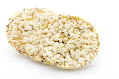 Corn crackers on the isolated white background. Royalty Free Stock Photo
