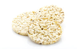 Corn crackers on the isolated white background. Royalty Free Stock Photography