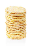 Corn crackers stack Royalty Free Stock Images