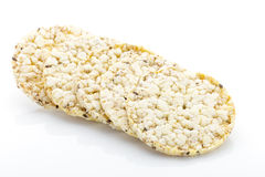 Corn crackers on the  white background. Royalty Free Stock Photos