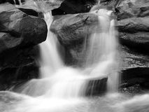 Corn Creek 13b. Waterfall Black and White royalty free stock photo