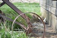 Corn Crib Barn. Auger wheel on an old corn crib barn on an Illinois farm Royalty Free Stock Photo