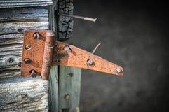 Corn Crib Barn. Door hinge on an old corn crib barn on an Illinois farm Stock Photography