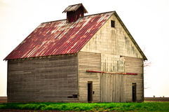 Corn Crib Barn. Old corn crib barn on an Illinois farm Stock Images