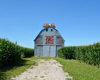 Corn Crib With Quilt Pattern Royalty Free Stock Images