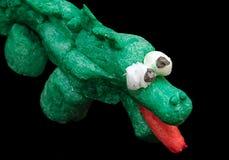 The corn crocodile. Creativity of children from preschool age Stock Photography