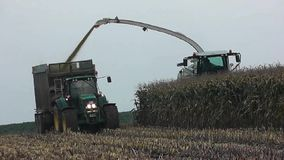 Corn crop biogas plant stock video footage