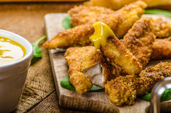 Corn crusted Chicken Tenders Stock Photography