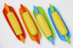 Corn in Dish Top 01 Royalty Free Stock Photography