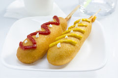 Corn dog Royalty Free Stock Photos