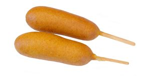 Corn dogs Royalty Free Stock Photography