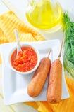Corn dogs Stock Image