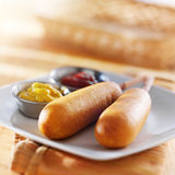 Corn dogs Stock Photo