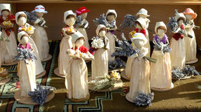 Corn dolls. Handmade dolls from corn leavs Royalty Free Stock Photos