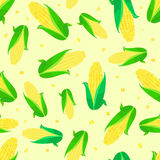 Corn ears seamless pattern Royalty Free Stock Photo