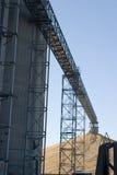 Corn elevator conveyor Stock Photo