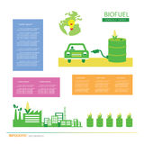 Corn ethanol biofuel vector icon. Alternative environmental frie Stock Photography