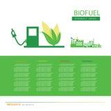 Corn ethanol biofuel vector icon. Alternative environmental frie Stock Image