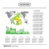 Corn ethanol biofuel vector icon. Alternative environmental frie Royalty Free Stock Photography