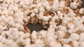 Corn exploding in super slow motion stock footage