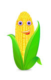 Corn with eyes and smile icon Stock Photography