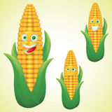 Corn face expression cartoon character set Royalty Free Stock Images